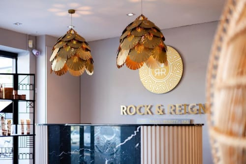 Pendants by Clarisse Design seen at Rock & Reign, Berea - PALMIER LIGHT