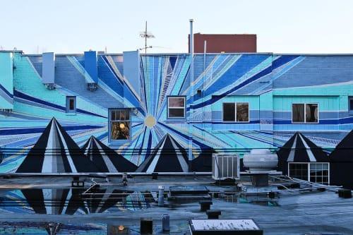Street Murals by Jake Millett seen at Homer, Seattle - Beacon Sunset Mural