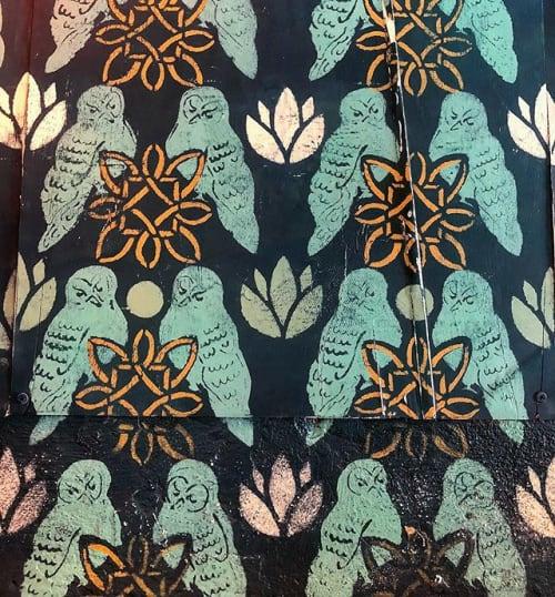 Murals by Sydney Compeau | Blue Heron Studio seen at Banshee, Atlanta - Wallpaper Mural