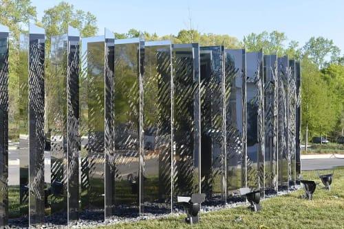 Sculptures by Marco Cianfanelli seen at Atlanta United Training Ground, Marietta - Myriad Formation
