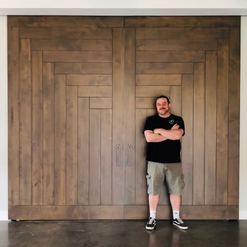 Furniture by AW Woodworks seen at Snow Canyon - Barn Doors