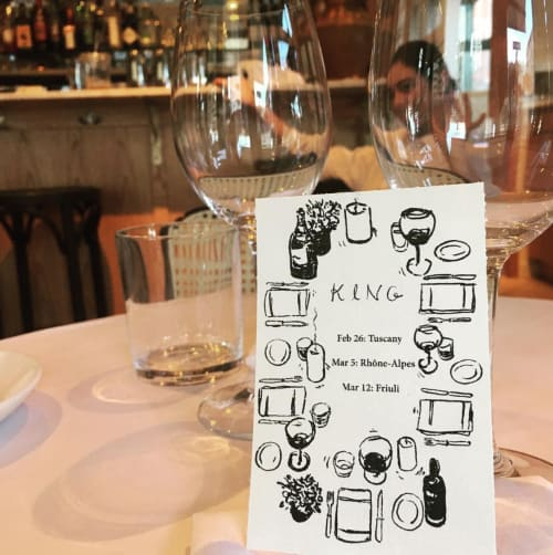 Paintings by RF. Alvarez at King Restaurant, New York - King Restaurant Private Event Menu