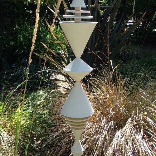 Sculptures by Zuzana Licko - White Garden Cones Sculpture