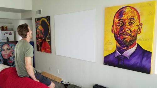 Paintings by Trent Moats Art seen at Creator's Studio, Las Vegas - Mamba Mentality