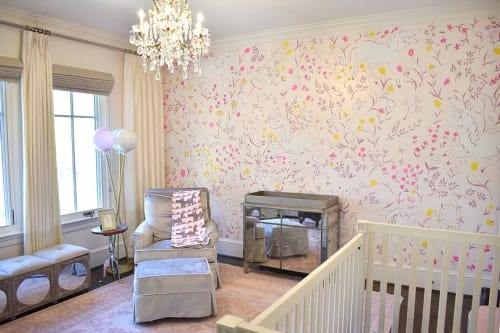 Murals by Nicolette Atelier seen at Private Residence - Unicorn Nursery Mural