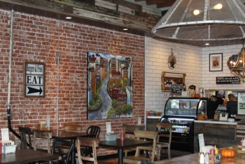 Paintings by Sue Averell seen at American Grub, Tustin - Commissioned painting for a Los Angeles Restaurant
