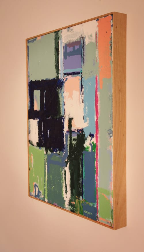 Paintings by Joey Korom seen at Private Residence, Hillsborough - Composition Energy