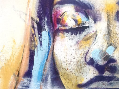 Paintings by Hannah Adamaszek seen at Creator's Studio - Warmth of the Amber Sun