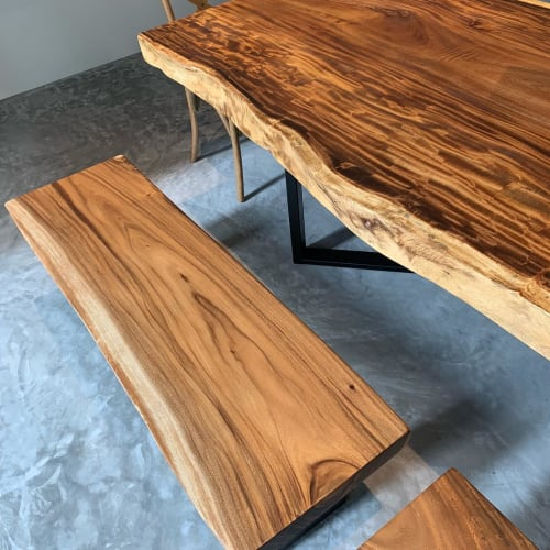 Tables by De Woodscape seen at Private Residence - Suarwood Table