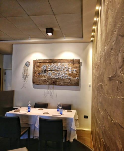 Public Mosaics by Rossella Casadio seen at La Buca, il Ristorante, Cesenatico - Controcorrente (Countercurrent)