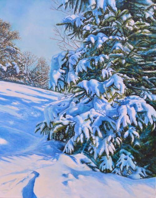 Paintings by Murals By Marg seen at Private Residence, Toronto - Walk On A Wintery Day 2020