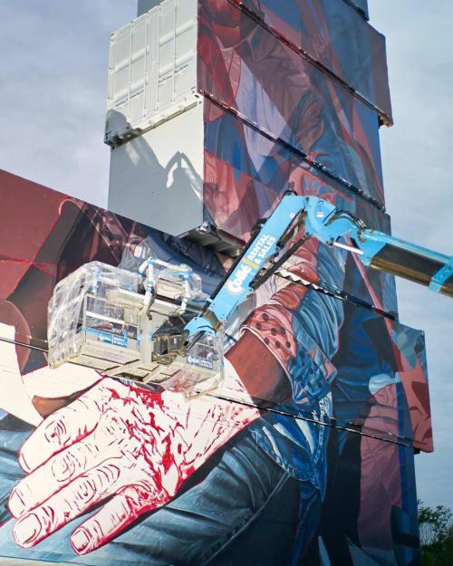 Street Murals by Oscar Maslard - SCKARO seen at North West Walls, Rotselaar - « Read me when I'm gone »