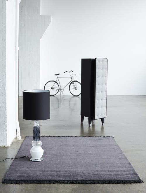 Rugs by Massimo Copenhagen seen at Fritz Hansen Store New York, New York - Earth Bamboo Charcoal with Fringes