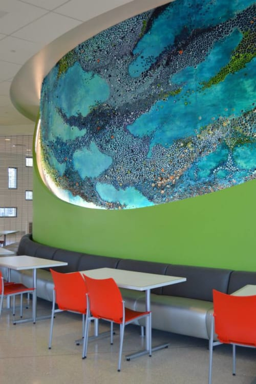 Murals by Amy Genser Studio at Nemours/Alfred I. duPont Hospital for Children, Wilmington - Flow
