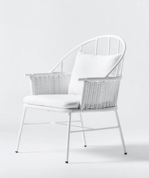 Chairs by Mexa seen at Casa Habita, Guadalajara - 1730 White Lounge chair