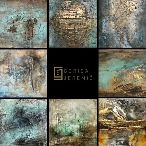 Gorica Jeremic - Paintings and Macrame Wall Hanging