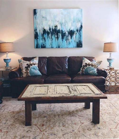 "Paintings by Christina Doelling, Abstract Artist seen at Private Residence, Alpharetta - ""Midnight Jazz"" 
