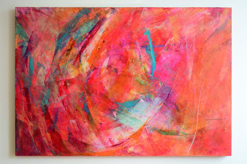 Paintings by Kimbal Quist Bumstead seen at Private Residence, London - Still Spiralling