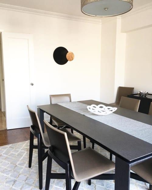 Art & Wall Decor by Nina Cho seen at Private Residence, New York - Constructivist Mirror Series (Circle)