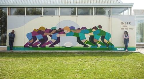 Murals by CactuSoup seen at Lleida, Lleida - Mural for INEFC