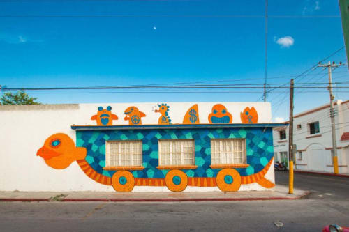 Murals by Jayson Cyh seen at San Miguel de Cozumel, San Miguel de Cozumel - Untitled