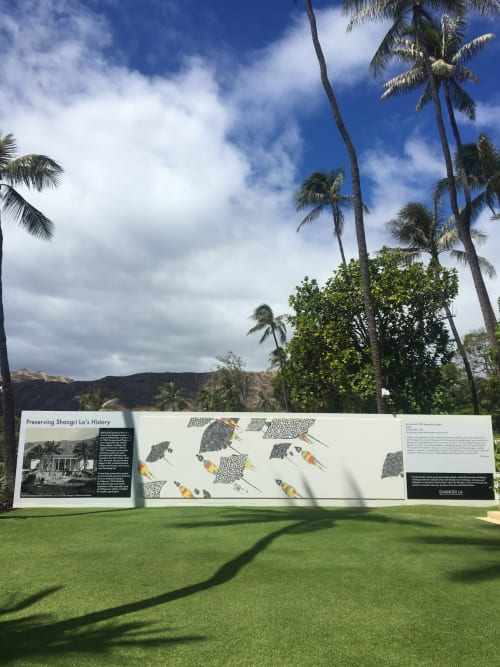 Murals by Kris Goto seen at Diamond Head, Honolulu - Shangri La Museum - Doris Duke Estate