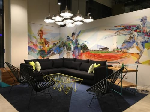 Chairs by Mexa seen at Nike, Guadalajara - Black Lounge Chairs