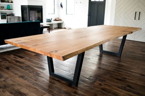 "Tables by Big Tooth Co seen at Private Residence, Warsaw - ""The Beginning"" Elm Dining Table"