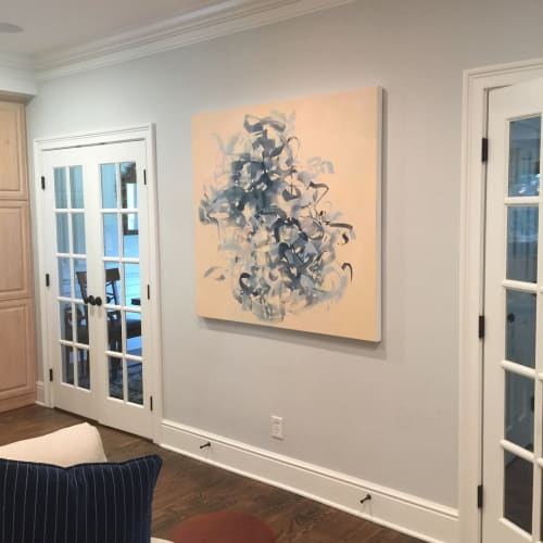 Paintings by Cameron Schmitz seen at Private Residence, Greenwich - Got that Beat