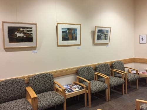 Paintings by Casey Blanchard seen at UVM Medical Center, Burlington - Monoprint Arts