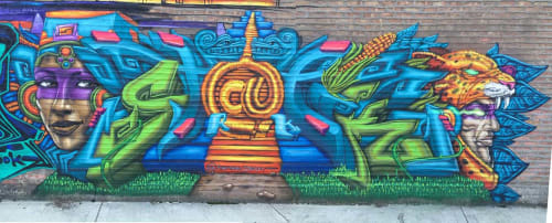 Street Murals by Rahmaan Statik Barnes seen at 2400 S Kedzie Ave, Chicago - Statik Style
