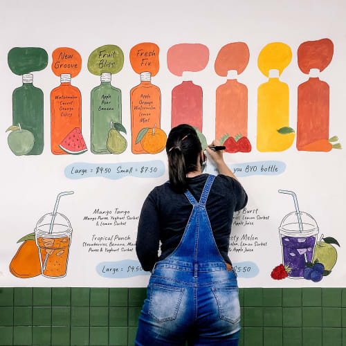 Murals by Jasmine Holmes seen at Juicy Fruits, Kensington - Juicy Fruits Mural