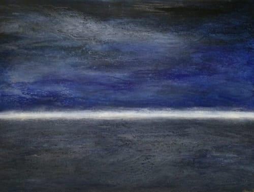 "Paintings by Stephanie Steiner seen at ASL Print FX, Napa - ""Midnight Seas"" Painting"
