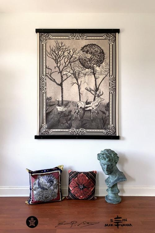 Wall Hangings by Sean Martorana - Janvier Scene • Large Fabric Textile Wall Hanging Print