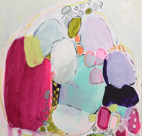 Paintings by Darlene Watson seen at Private Residence - Sun Kissed Beach Glass