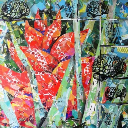 Paintings by Eileen Downes seen at Illinois Neurological Institute, Peoria - Beauty and the Brain No. 6
