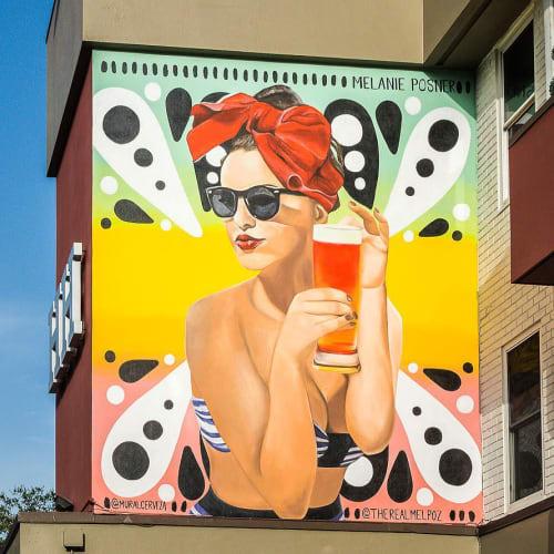 Murals by Melanie Posner seen at Hollander Hotel St. Petersburg / Downtown, St. Petersburg - St. Pete Summer