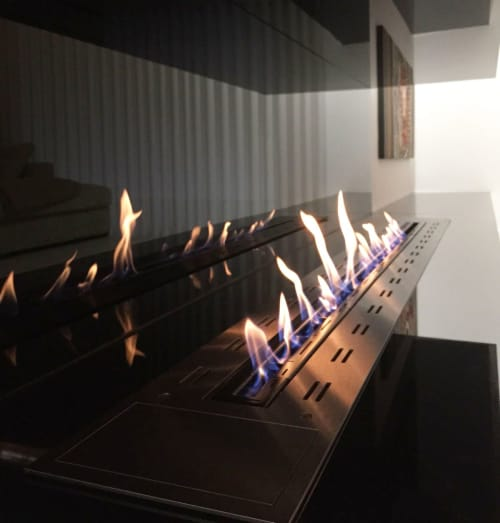 Fireplaces by GlammFire seen at Private Residence, Oliveira de Azeméis - Creation Evo 1600