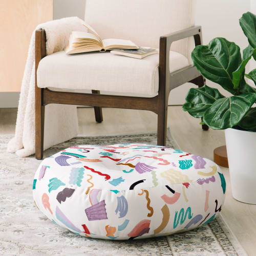 Pillows by Ninola Design seen at Deny Designs, Englewood - Curly ZigZag Marker Lines Cushion