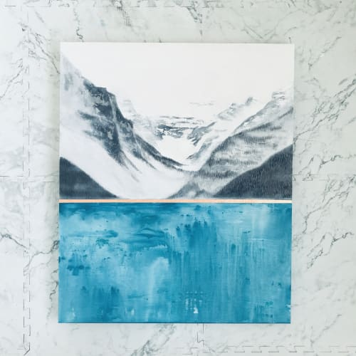 Paintings by Aimy Van der linden seen at Private Residence, Nashville - Lake Louise