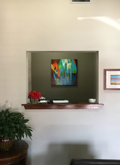 Paintings by Sharon Grimes Art seen at Sorey, Gilliland & Hull, LLP, Longview - Island Pottery