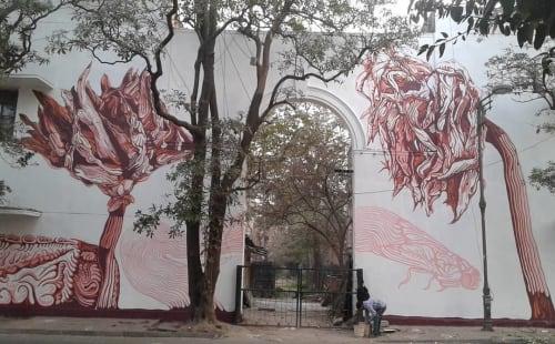 Dead Dahlias   Street Murals by Amitabh Kumar