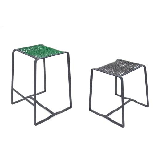 Chairs by Merkled Studio seen at Private Residence, Portland - Merkled Net Stool