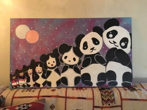 "Paintings by Amanda Beardsley seen at Private Residence, Santa Fe - ""Changing Woman"""