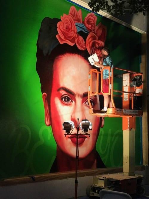 Murals by Rafael Blanco seen at Circus Circus Reno, Reno - Frida Kahlo Mural