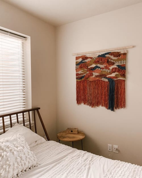 Wall Hangings by Sweet Pea Artistry seen at Private Residence - Colorful Woven Wall Hanging