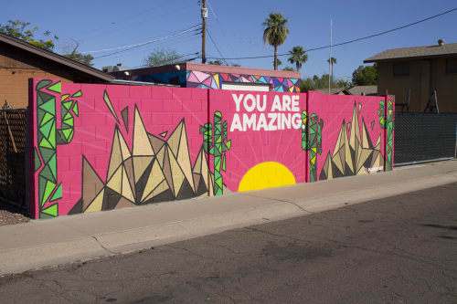 Street Murals by Jayarr Steiner seen at Tempe, Tempe - YOU ARE AMAZING - BECK & LAIRD