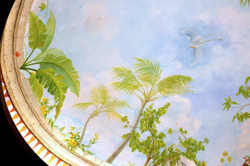"Murals by Murals by Georgeta (Fondos) seen at Lauderhill, Lauderhill - ""The Florida Impressions Dome in Rotunda Mural"""