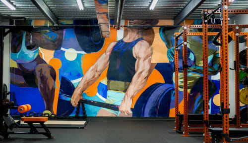 Murals by Taylor White seen at Ignite Fitness, Apex - Ignite Fitness