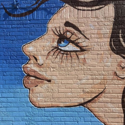 Street Murals by Ursula Xanthe Young seen at Plaza District, Oklahoma City - Plaza Walls x Few & Far Women 2019